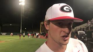 Georgia pitcher Cole Wilcox on his second SEC start and win, @MikeGriffith32 video