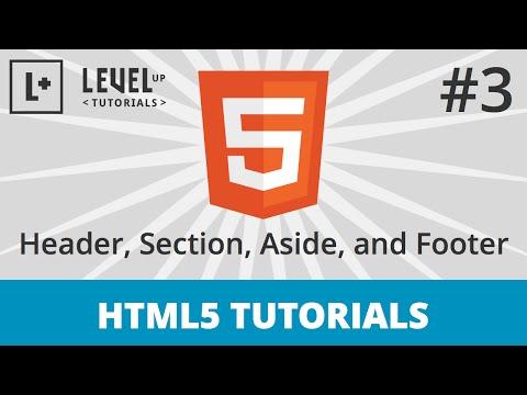Semantic html section header