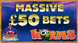 MASSIVE £50 BETS!! Genie Jackpots & Worms