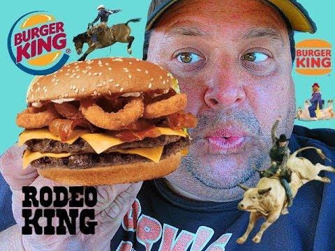 BURGER KINGR Rodeo King Burger ReviewYeeHaw