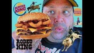 BURGER KING® Rodeo King Burger Review...YeeHaw!!!!