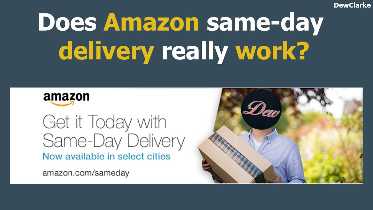 why is there free evening delivery on amazon