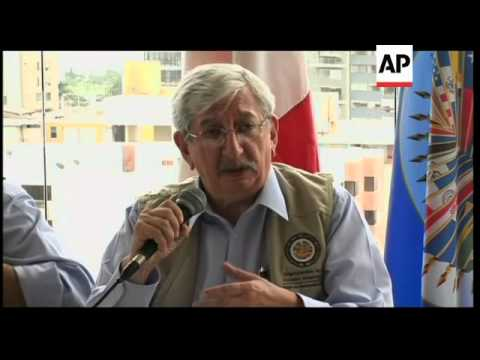 OAS observers' news conference on the elections