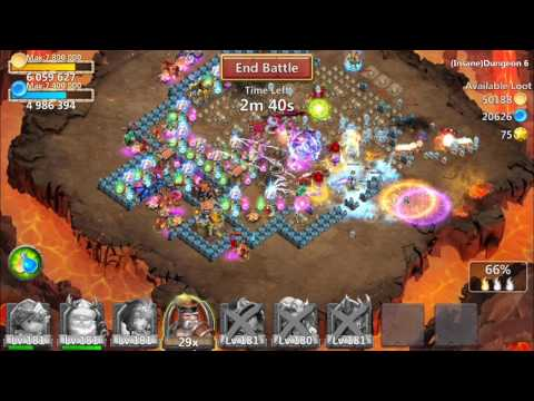 Castle Clash: Insane Dungeon 6 Without Minotaur!