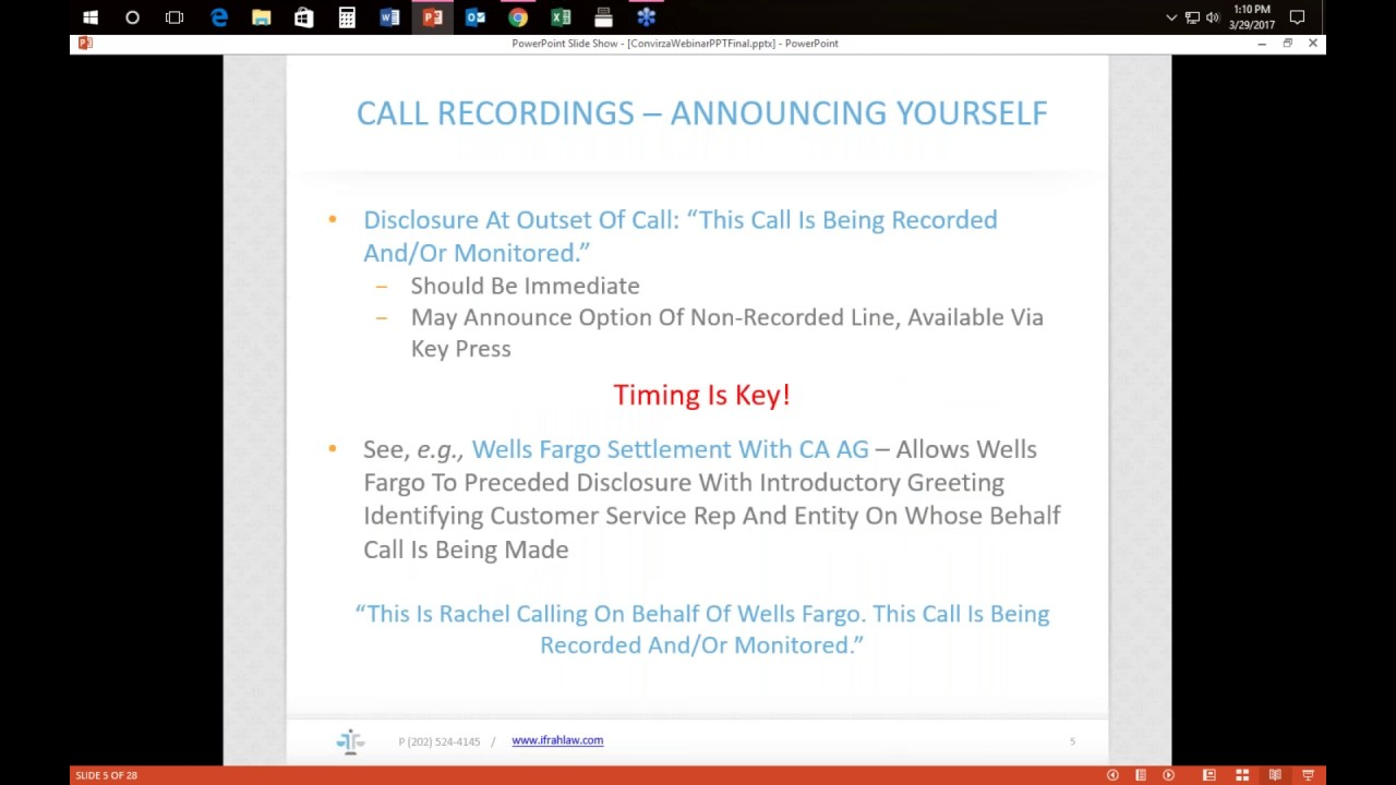 """""""This Call May be Recorded …"""" – The Rules of the Road to Compliant Call Recordings"""