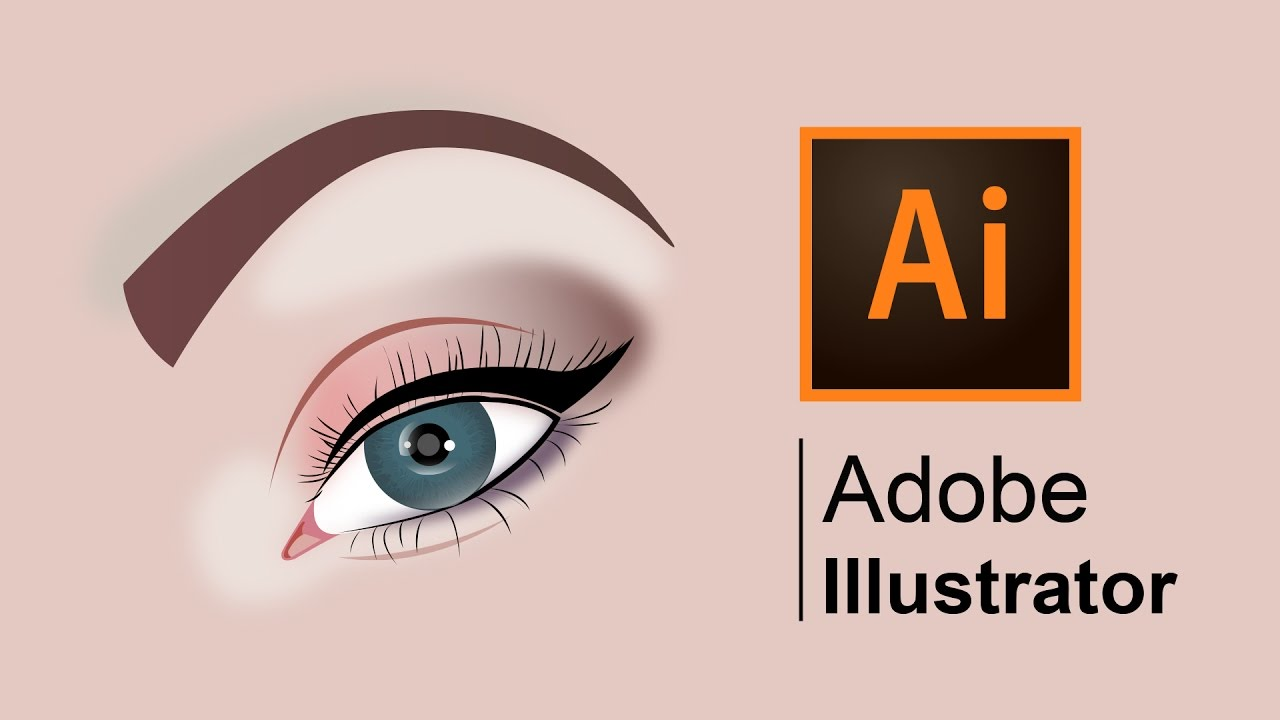 How To Draw A Realistic Human Eye Stepbystep Adobe Illustrator