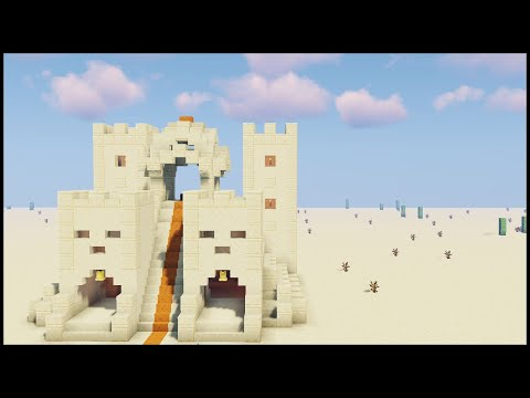 Minecraft: How to Build a Desert temple ( New design ) [ Tutorial ] thumbnail