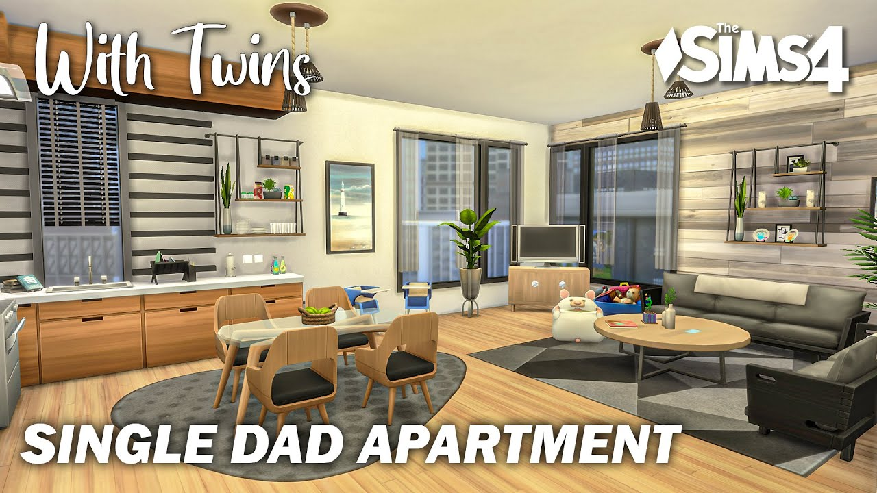 Single Dad Apartment with Twins | Machinima | No CC | Stop Motion | Sims 4