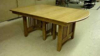 Francisco Trestle Dining Table Amish Furniture