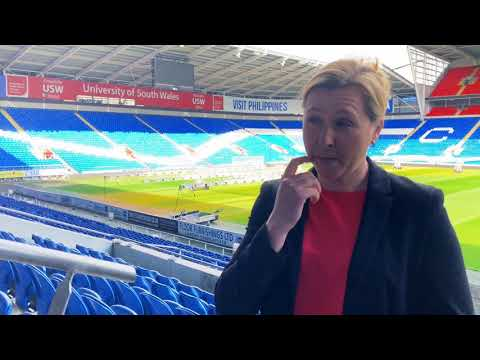 27 03 18 Wales Women's manager Jayne Ludlow on Wales v England