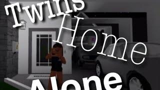 Twins home alone! || ROBLOX bloxburg
