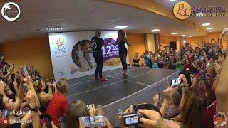 ataca y la alemana footwork el sol salsa festival 2016