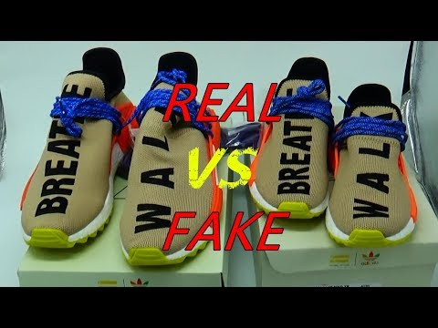 REAL VS FAKE ADIDAS NMD HUMAN RACE PALE NUDE WALK BREATH from suplook