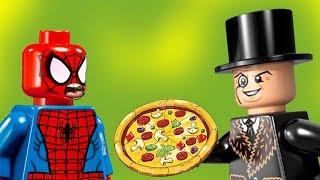 Пицца для Пингвина. Человек паук, Бэтмен, Джокер новые мультики для детей 2017 Лего #мультфильмы.