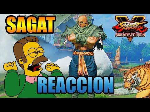 REACCIÓN AL TRAILER DE SAGAT | STREET FIGHTER V ARCADE EDITION