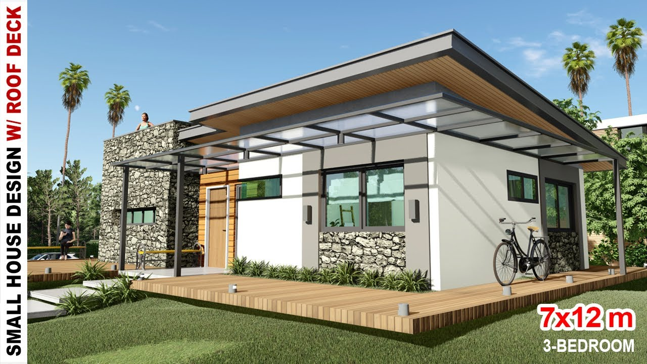 3 Bedroom Small House Design With Roof Deck 7x12m House Design Under 2 Million Philippines Youtube