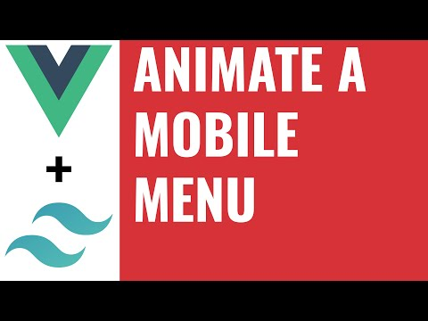 Animate a mobile menu component - Build an SPA in Vue Tutorial #4 thumbnail
