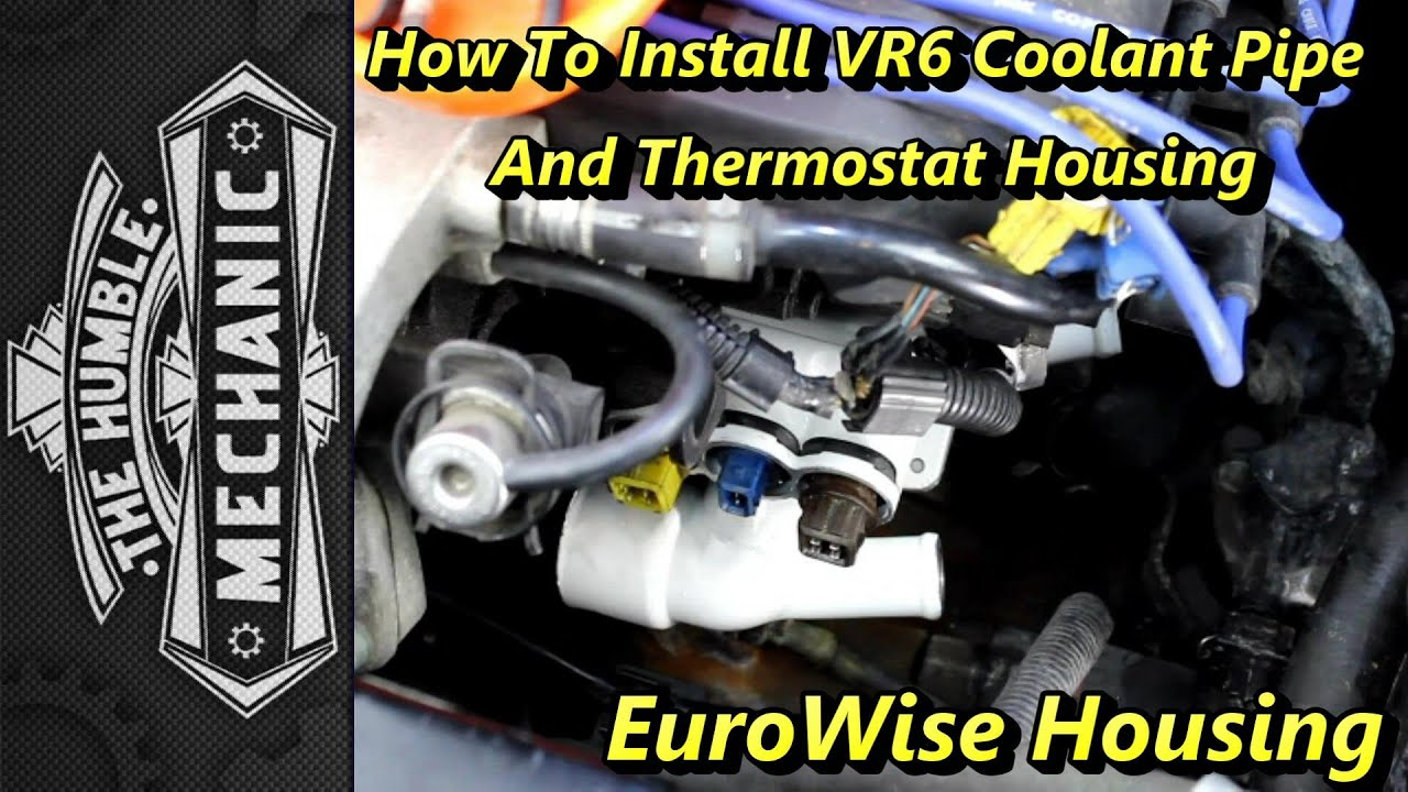 Vw 2 8 Engine Diagram 1996 Vr6 Electrical Wiring House Thermostat Replacement With Upgraded Housing Youtube Rh Com Cooling System