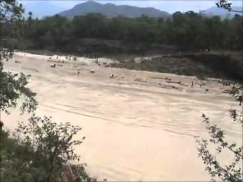 Pokhara Flood At Seti River In Kaski Nepal