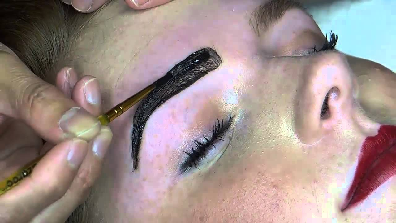 Before And After Brow Tint Youtube