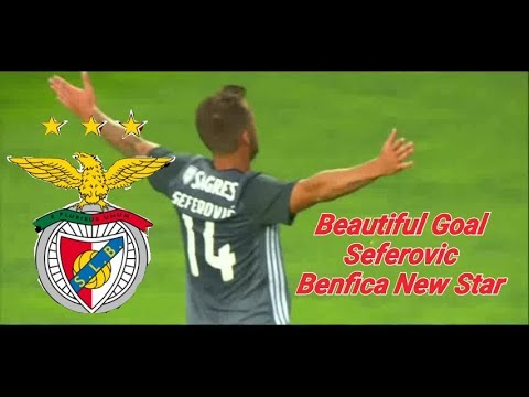 Seferovic great goal . BENFICA new striker
