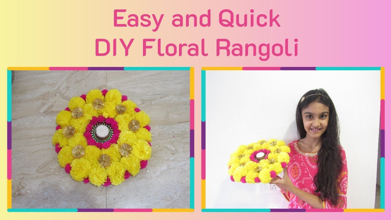 Easy and Quick DIY Flower Rangoli || Flower Rangoli for Diwali || Diwali 2019