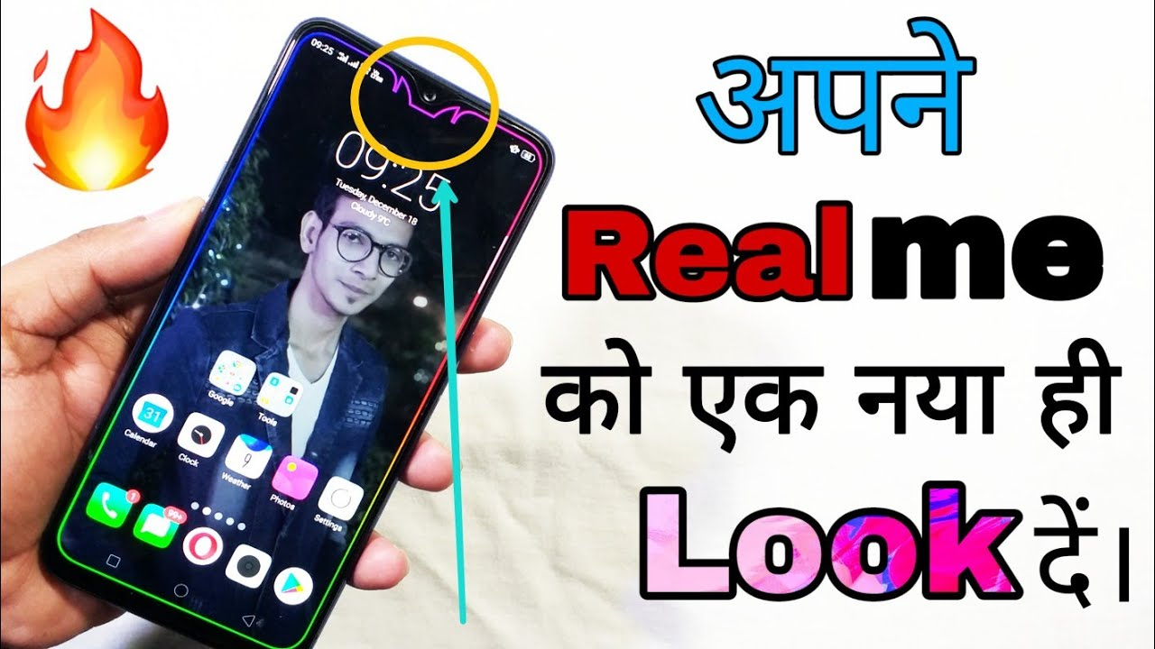 Change your Realme phones Notch Style and much more | Set Border Light On  Any Android | Awesome Look by WepClick