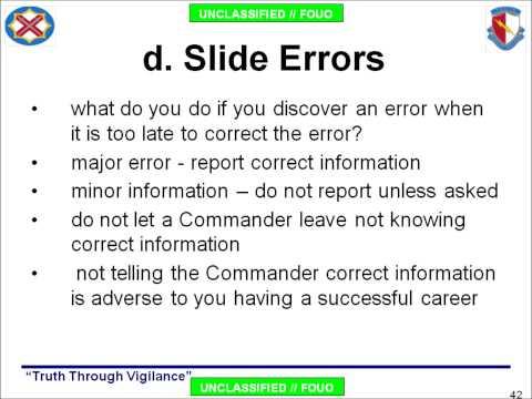 Military Slide Guide: