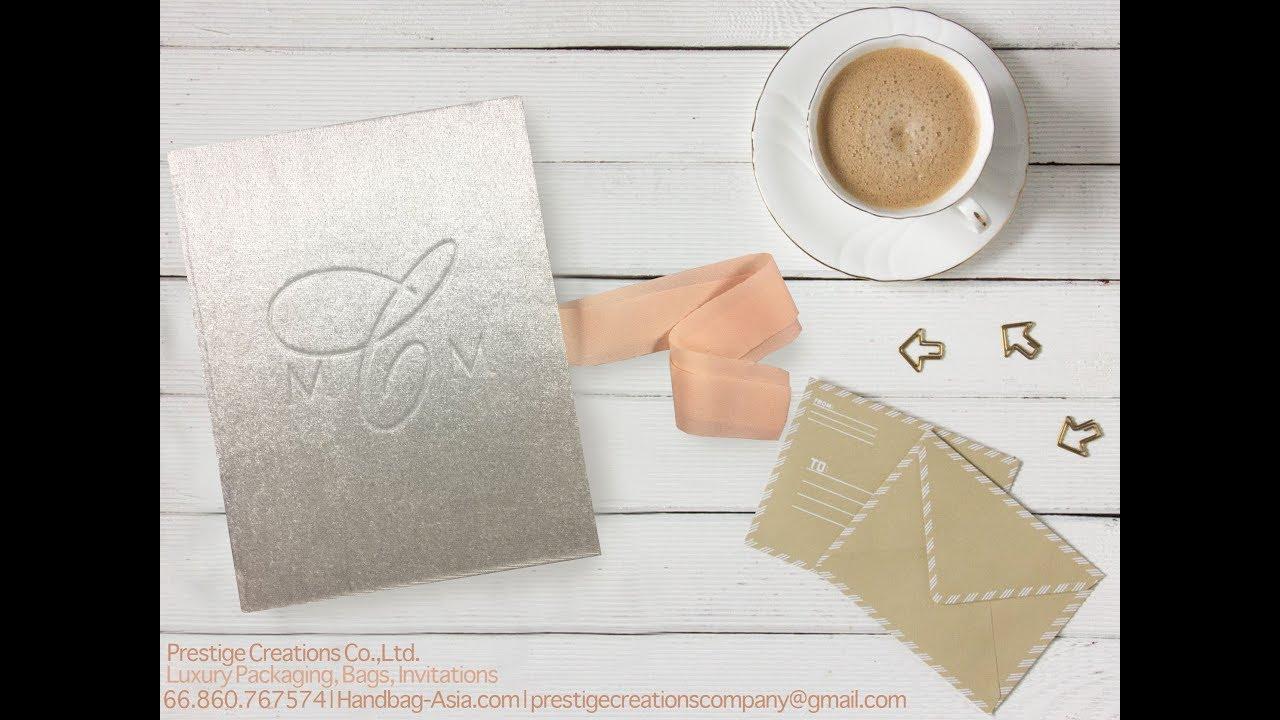 Silk Folder Silk Invitation Boxes Wedding Favor Boxes - YouTube