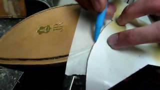Shoe Repair. Leather Half Sole - Rubber Heel