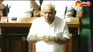 Yeddyurappa Emotional Speech in Karnataka Assembly Before Resign || Sakshi TV