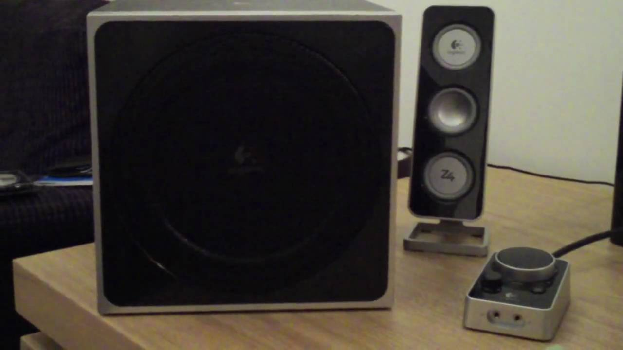 25bed2be94a Logitech Z4 Speaker System Review - YouTube