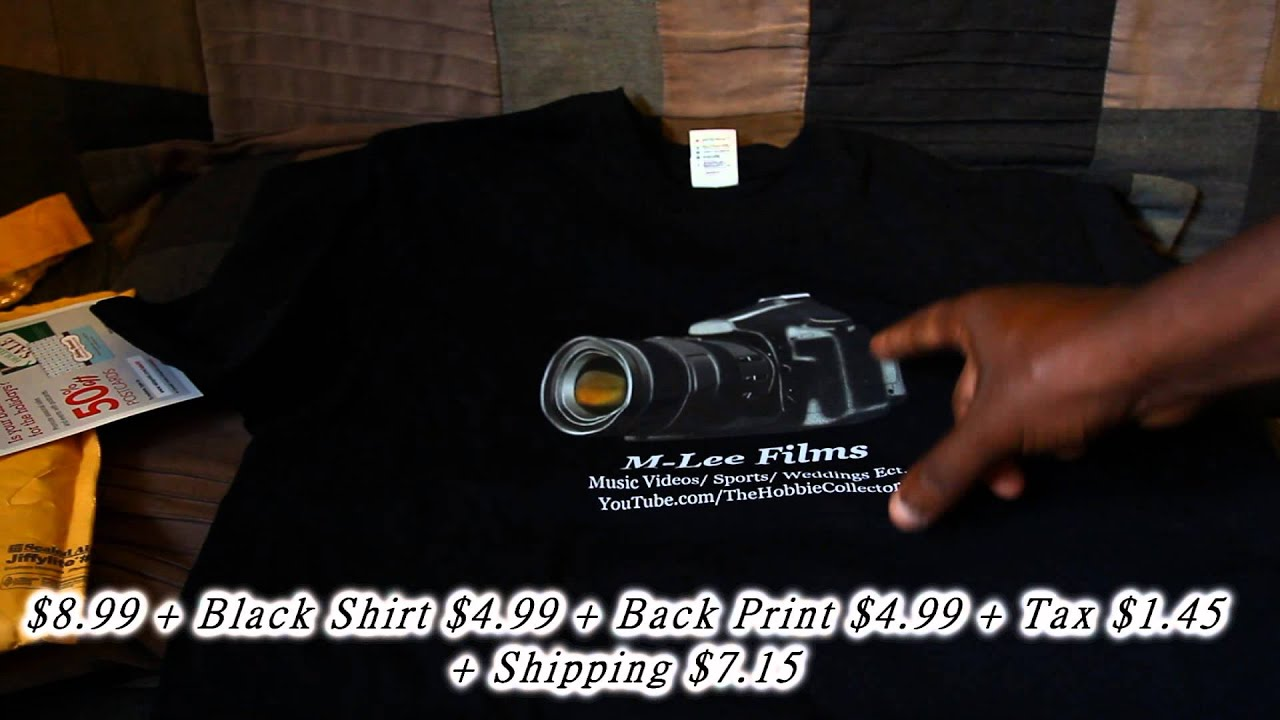 vistaprint custom shirt unboxing youtube