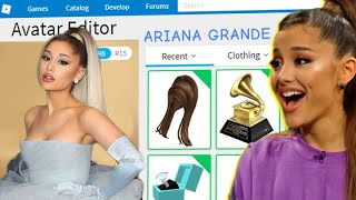 I Made Ariana Grande A Roblox Adopt Me Account!