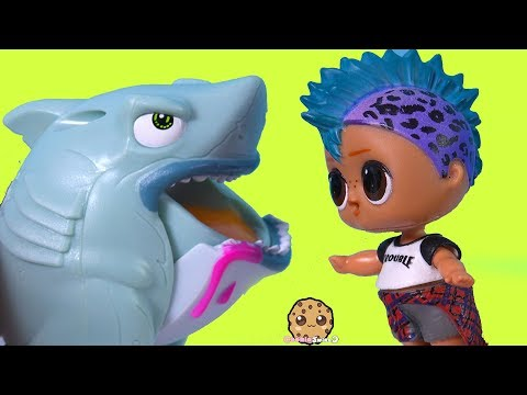 LOL Surprise Boy Helps Slime Crate Creatures Sharks  Cookie Swirl C Toy