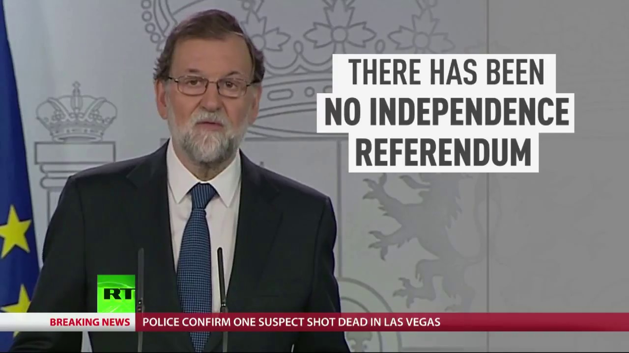 """Spanish PM: """"There was no independence referendum in Catalonia"""""""