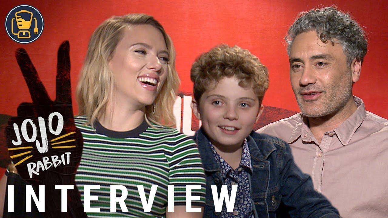 Sam Rockwell Jojo Rabbit >> Jojo Rabbit Cast Interviews With Scarlett Johansson Taika Waititi Sam Rockwell And More