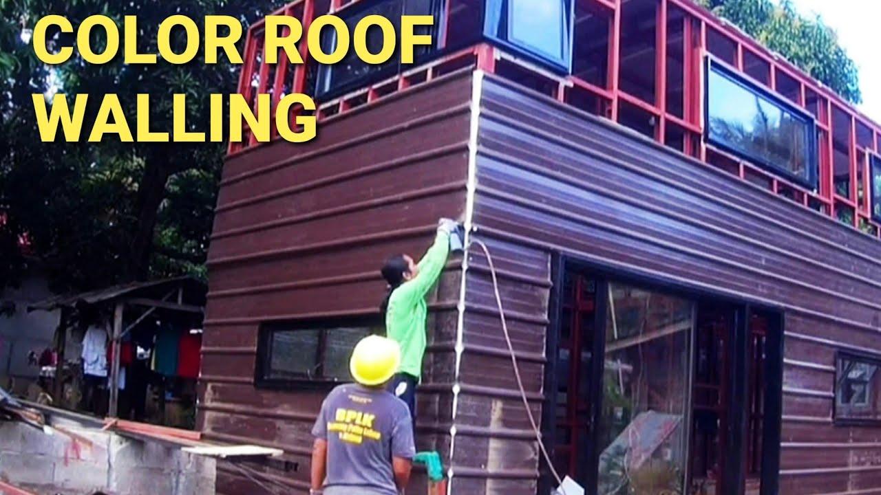 Color Roof Design Walling Bahay Gawa Sa Yero Time Lapse Youtube