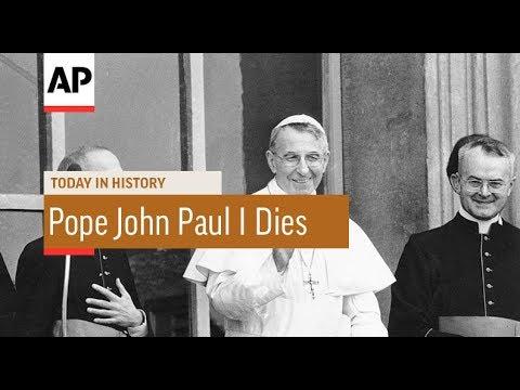 Pope John Paul I Dies - 1978 | Today In History | 29 Sept 17