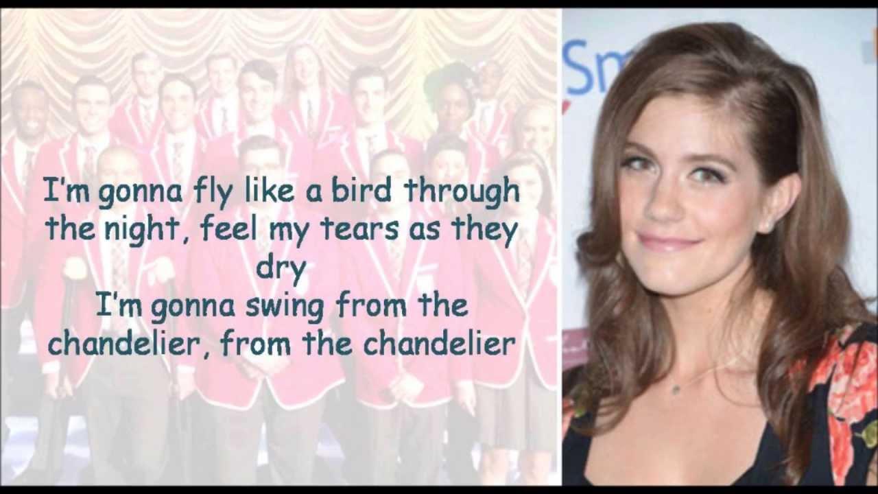 Glee Chandelier lyrics - YouTube