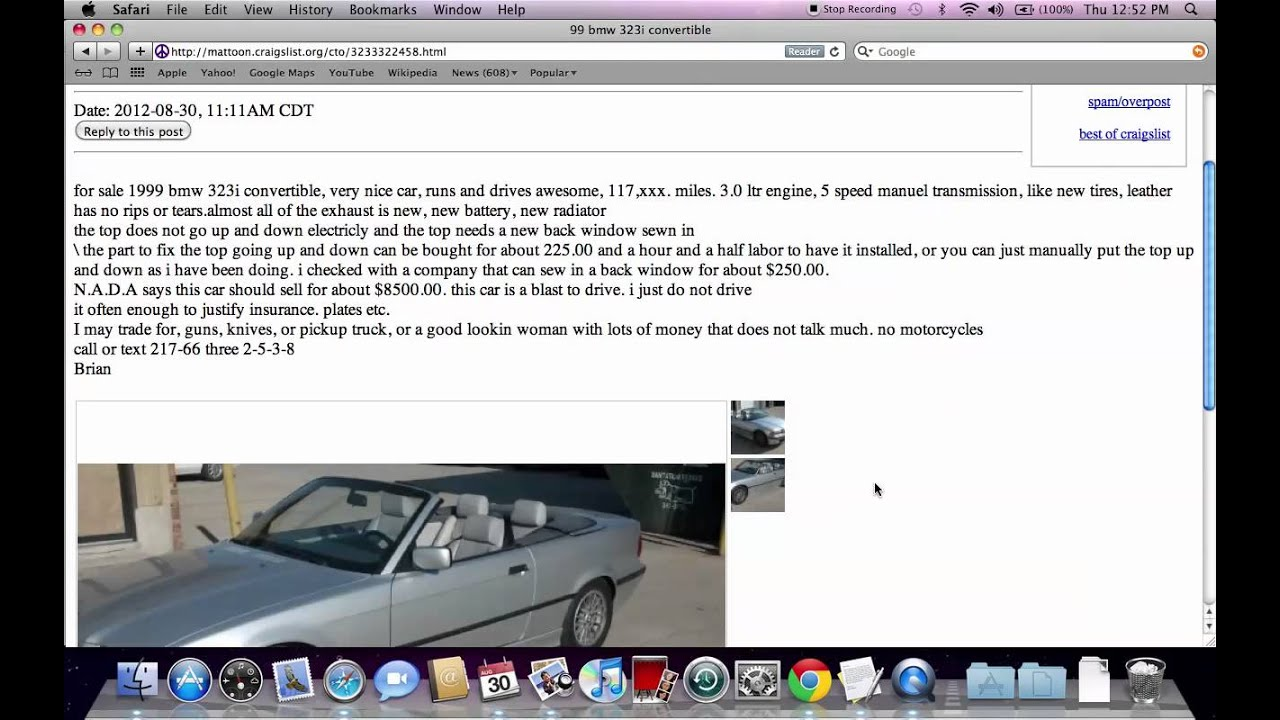 Craigslist charleston illinois used cars deals under 1500 available in il in 2012 youtube