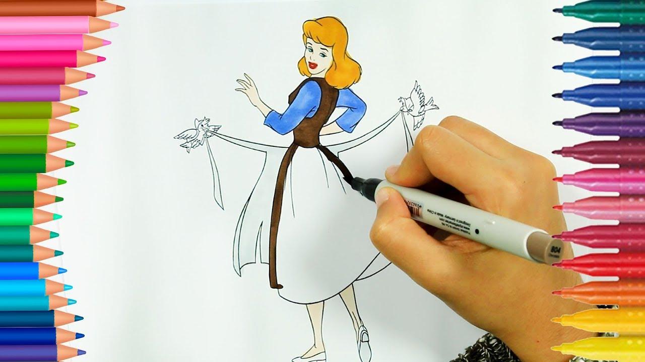 Prenses Sindirella Ve Kuşlar Boyama Kitabı Boyama Videoları
