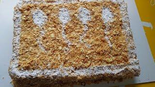 Торт Наполеон очень простой рецепт(из 4 Коржа толщина 5 см)  Жуда осон маззали камхарж торт наполеон
