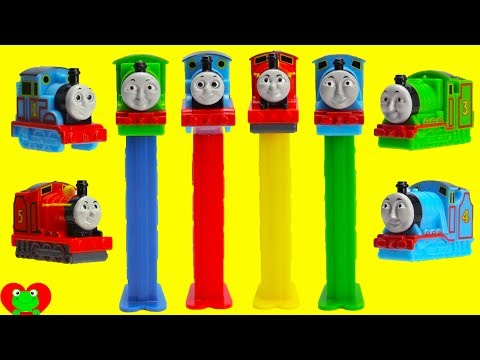 Thomas The Train Pez Candy Dispensers LEARN Colors