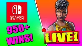 🔴 Fortnite Nintendo Switch Player // 950+ Wins // New Disco Diva Skin // Solo Matches + Tips!!