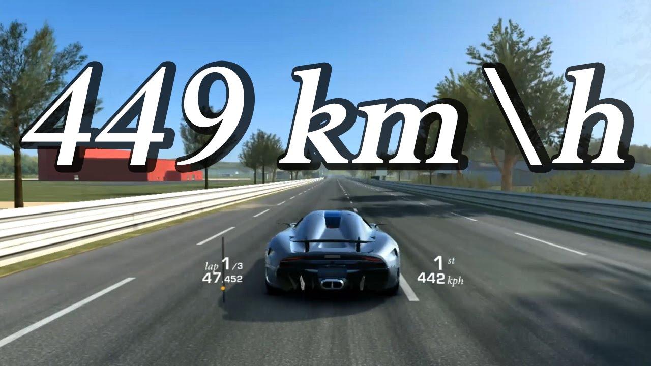Real Racing 3 - Koenigsegg Regera Top Speed 449 kmh / 280 mph - YouTube