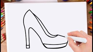 How to Draw Chappal Learn Drawing Ladies Shoes Step by Step for Kids