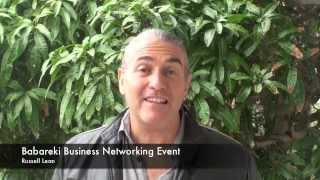 Babareki Business Networking events testimonial- Russell Lean