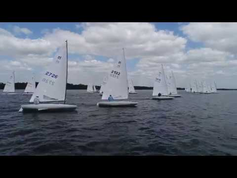 2019 MC Midwinters – Race 3 Start from the Melges Drone