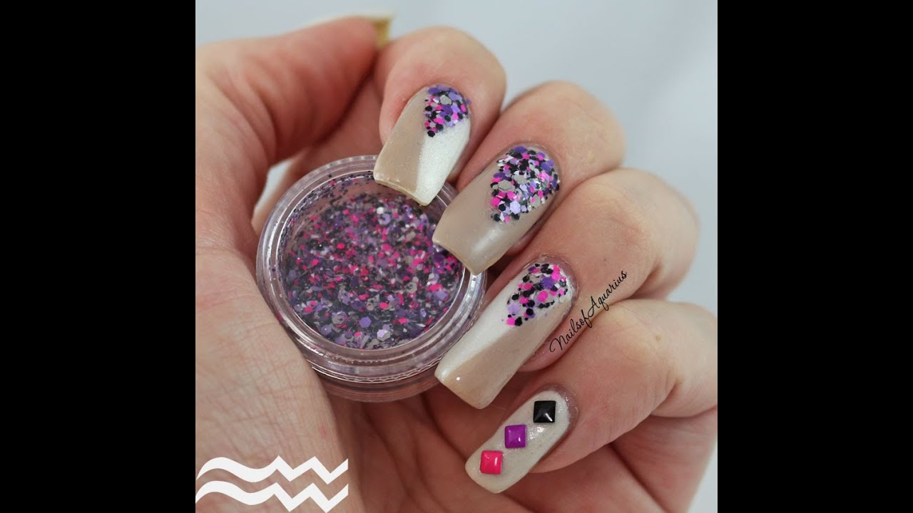HD: Born Pretty Store Loose Glitter Review + Easy Colorblock Nail ...
